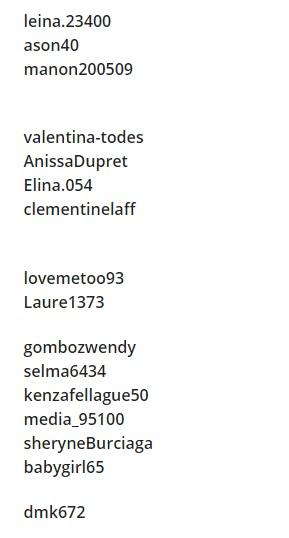 liste des comptes